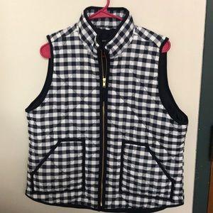 JCrew gingham vest